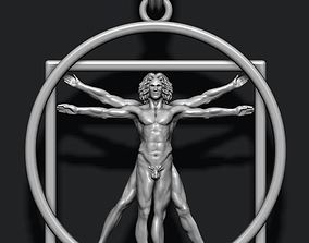 3D printable model Vitruvian Man pendant