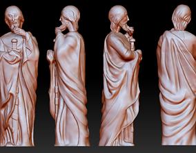 Statue 10 of saint Notre Dame 3D print model