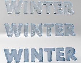 3D model Winter Text