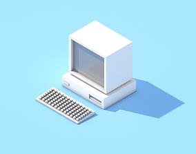 3D asset Old School Pc Ibm lowpoly game model