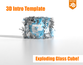Exploding Glass Cube 3D Intro Logo Reveal animated 2