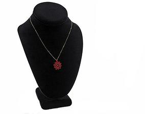 chain 3D printable model Flower pendant