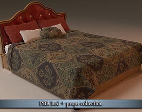 PBR Bed 3D model