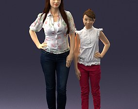 3D model Mom and daughter 0026