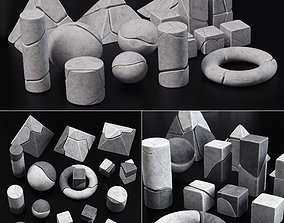 Stone splinter geometry decorative n1 3D