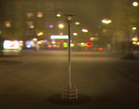 3D asset Cyberpunk - sci-fi street light