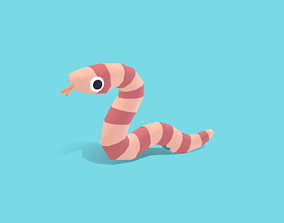 Monty the Python - Quirky Series 3D asset