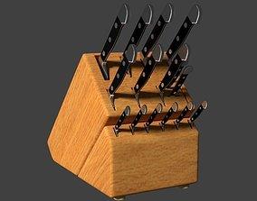 Cutlery Knife Block set 3D model