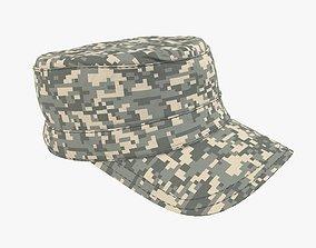 Military camo cap 3D model