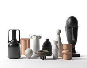 Vases with Head Sculpture design 3D