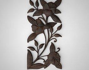 3D printable model floral ornament