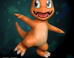 rigged Pokemon - Charmander - Model 3D -