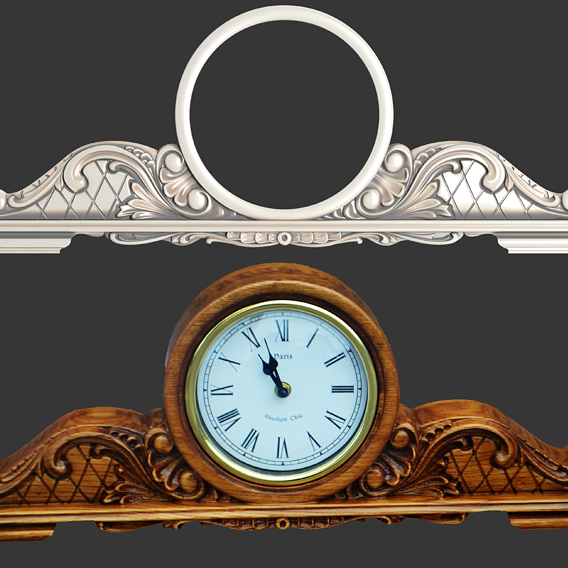 3d model of clock for CNC milling machine