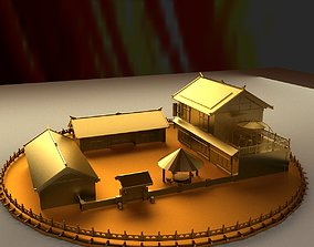 chinese oriental 3D Chinese ancient house