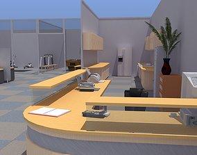 Retro Office Gym 3D asset