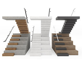 3D model realtime Stairs family