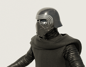 Kylo Ren - Star Wars The Force Awaken 3D Model rigged
