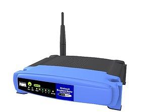 3D model Linksys wireless router