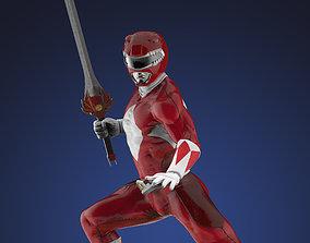 tokusatsu 3D printable model Power Ranger Red Statue