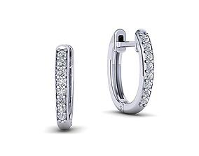 3dprinting Hoop Earrings Diamond earrings 3dmodel