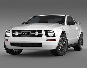 3D Ford Mustang V6 Pony 2006