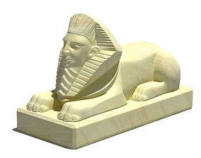 Egyptian Sphinx Statue 3D