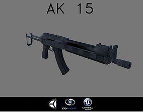 3D model AK-15 Low Poly game ready