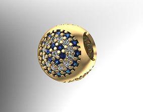 3D print model 3 side stones charm ball