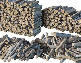 pile 3D model Firewood