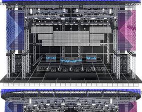 3D model cinema EDM Concert Stage