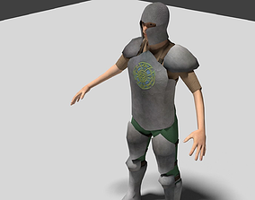 Low Poly Celtic Knight 3D asset rigged