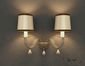 3D Masiero 7600 A2 wall lamp
