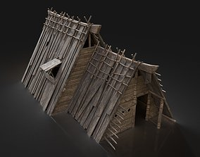 Viking Simple House Cottage Hut Northern 3D model 3