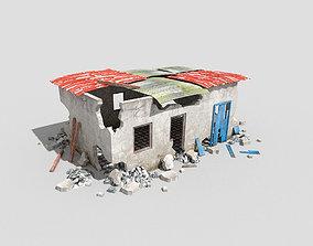 destroyed building 5 3D model
