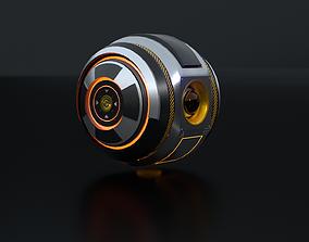 Sci-Fi Sentinel Drone 3D asset