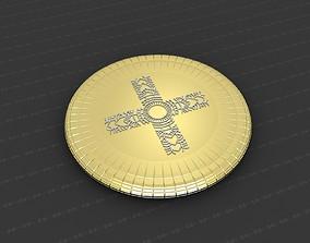 Cross Medallion 3D printable model relief