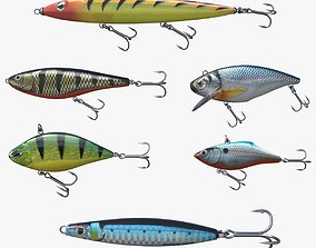 3D Fishing lure set