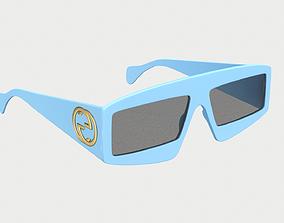 3D asset Sunglasses Gucci Rectangular