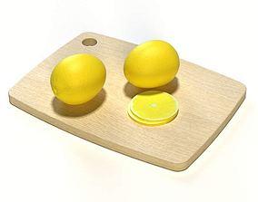 3D model Single Piece Wooden Cutting Board