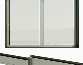 Panoramic sliding system Window Door 3D asset