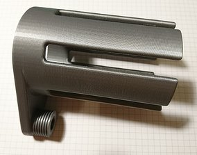3D print model shower blower long version
