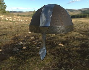 3D asset Saxon Nasal Helmet