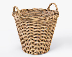 Wicker Basket 08 3D