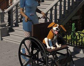 Wheelchair for DAZ Studio 3D