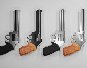 3D model Revolver Magnum 44 Pack