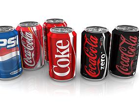 3D model Soda cans