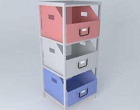 COLORS blue storage cabinet 3D