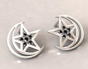 3D print model Triple Moon Goddess Earrings