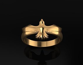 Golden Eagle Jewelry Ring power 3D model
