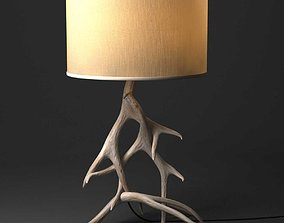 3D Restoration Hardware Natural Antler Table Lamp Deer